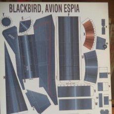 Coleccionismo Recortables: BLACKBIRD AVION ESPIA 4 PAGINAS DE 29X20,5 CM. Lote 155641098