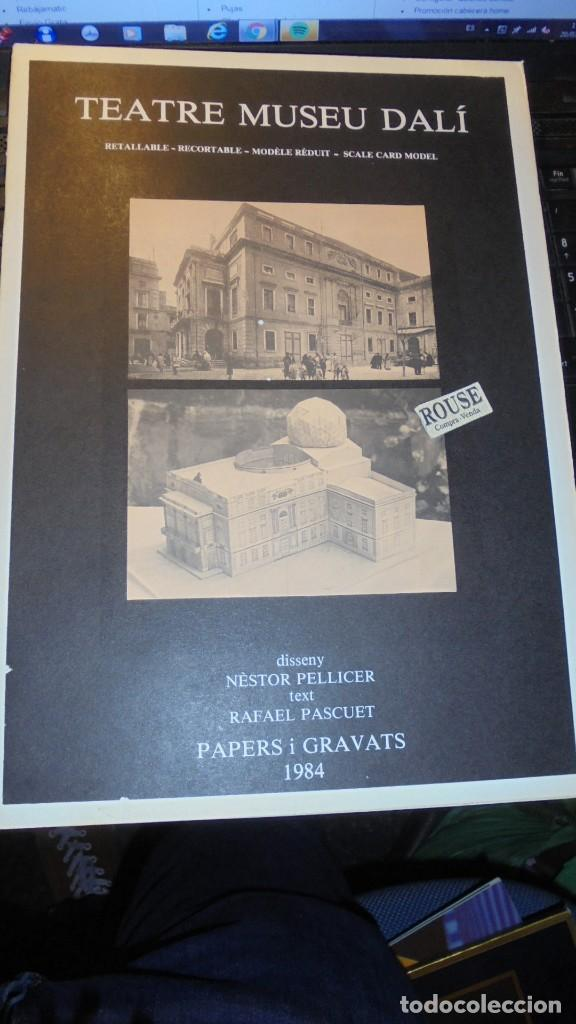 DALI - TEATRE MUSEU DALI - RECORTABLE 1984 DISSENY NÉSTOR PELLICER TEXT RAFAEL PASCUET PAPERS I GRAV (Coleccionismo - Recortables - Construcciones)