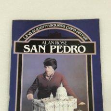 Coleccionismo Recortables: UNA SUPERMAQUETA PARA ARMAR SAN PEDRO SERIE CONSTRUYE Y JUEGA. Lote 156908832