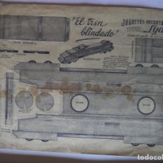 Coleccionismo Recortables: EL TREN BLINDADO.JUGUETES RECORTABLES EDITORIAL LYA. Lote 157712778