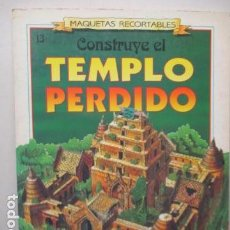 Coleccionismo Recortables: RECORTABLE CONSTRUYE EL TEMPLO PERDIDO - SUSAETA EDICIONES. Lote 181097538