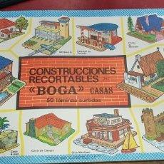 Coleccionismo Recortables: CONSTRUCCIONES RECORTABLES CASAS BOGA BILBAO AÑOS 70. Lote 160222370