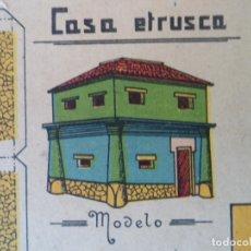 Coleccionismo Recortables: RECORTABLES MARCA EL TORO SERIE C Nº 8 CASA ETRUSCA. Lote 160340106