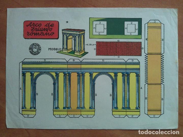 RECORTABLE ARCO DE TRIUNFO ROMANO - BRUGUERA (Coleccionismo - Recortables - Construcciones)