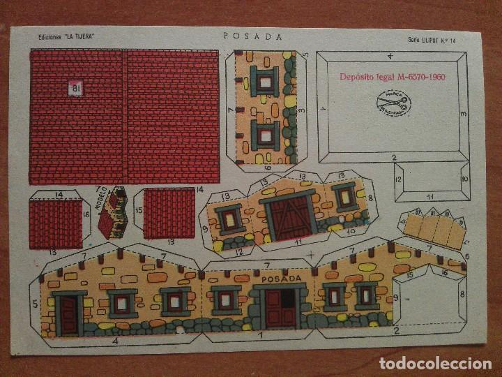 RECORTABLE POSADA - LA TIJERA (Coleccionismo - Recortables - Construcciones)