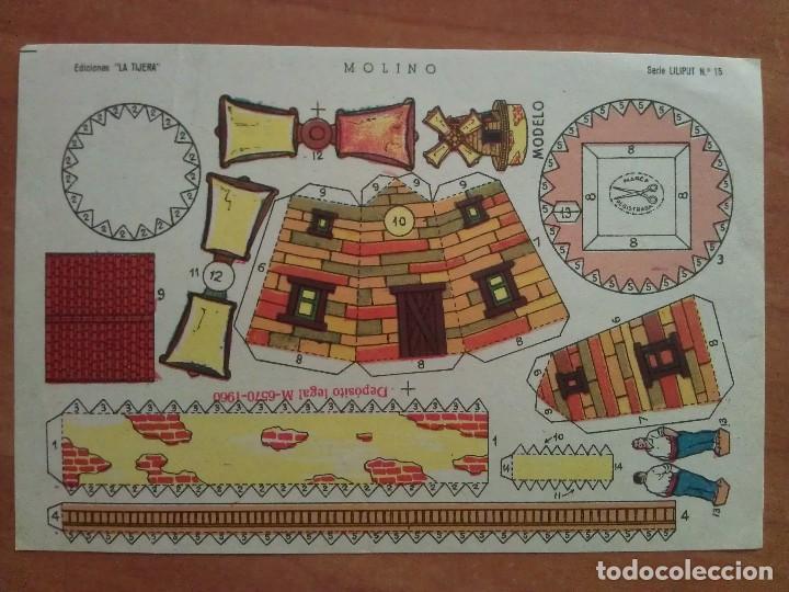 RECORTABLE MOLINO - LA TIJERA (Coleccionismo - Recortables - Construcciones)