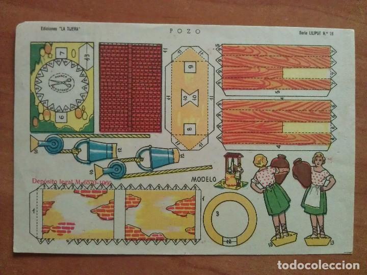 RECORTABLE POZO - LA TIJERA (Coleccionismo - Recortables - Construcciones)