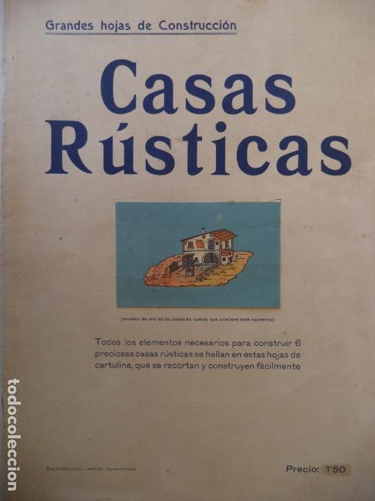 GRANDES HOJAS DE CONSTRUCCION CASAS RUSTICAS MIGUEL A SALVATELLA 8 PAG DE 45X33 CM (Coleccionismo - Recortables - Construcciones)
