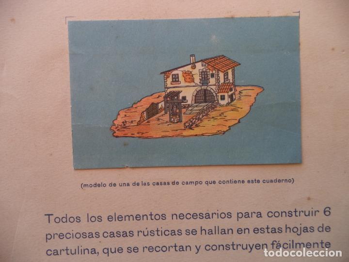 Coleccionismo Recortables: GRANDES HOJAS DE CONSTRUCCION CASAS RUSTICAS MIGUEL A SALVATELLA 8 PAG DE 45X33 CM - Foto 2 - 161444862