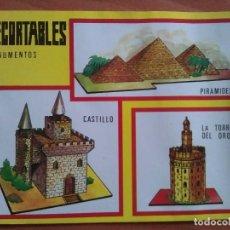 Colecionismo Recortáveis: RECORTABLES MONUMENTOS. Lote 161562478