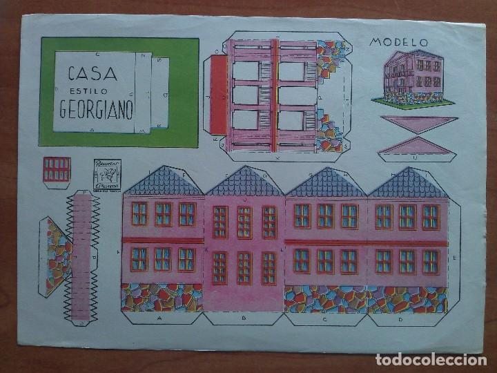 RECORTABLE AZUCENA CASA ESTILO GEORGIANO SIN NÚMERO (Coleccionismo - Recortables - Construcciones)