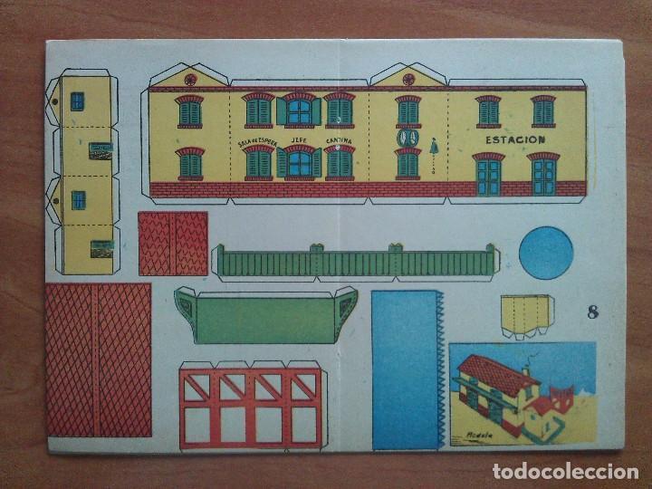 RECORTABLE ANTIGUO : ESTACIÓN (Coleccionismo - Recortables - Construcciones)