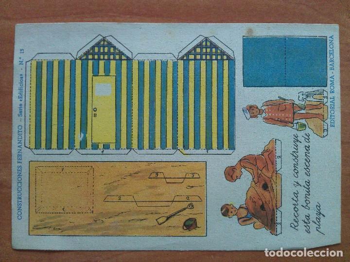 RECORTABLE FERNANDITO SERIE EDIFICIOS Nº 13 (Coleccionismo - Recortables - Construcciones)