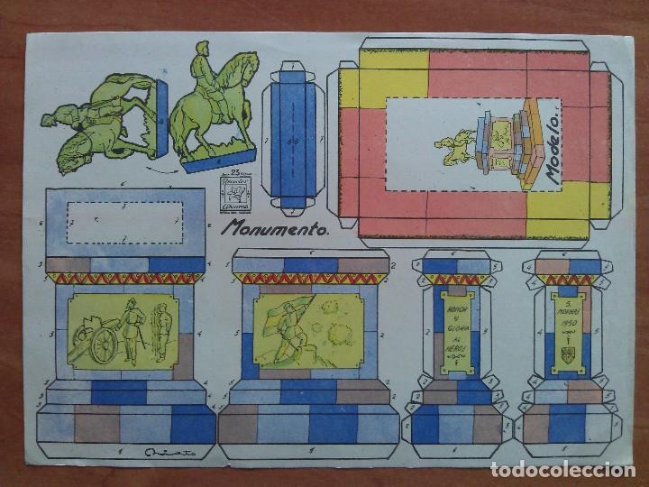 RECORTABLE AZUCENA MONUMENTO Nº 23 (Coleccionismo - Recortables - Construcciones)