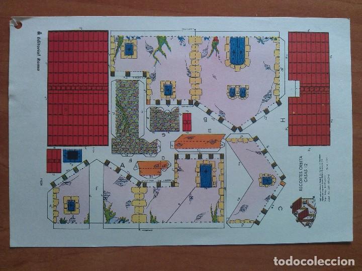 RECORTABLE CARITA CASAS Nº 12 (Coleccionismo - Recortables - Construcciones)