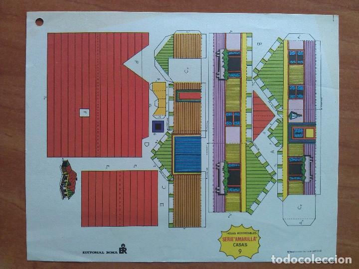 RECORTABLE SERIE AMARILLA -CASAS Nº 9 (Coleccionismo - Recortables - Construcciones)