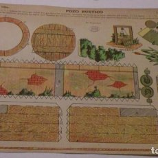 Coleccionismo Recortables: RECORTABLE EDICIONES LA TIJERA, POZO RUSTICO. Lote 162510594