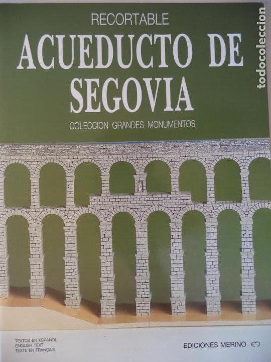 ACUEDUCTO DE SEGOVIA EDICIONES MERINO 18 HOJAS 32X24 CM (Coleccionismo - Recortables - Construcciones)