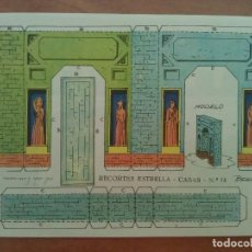 Coleccionismo Recortables: RECORTABLE ESTRELLA - CASA Nº 13. Lote 164018018