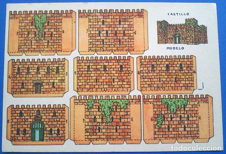 RECORTABLE - CASTILLO MODELO - PERFECTO ESTADO (Coleccionismo - Recortables - Construcciones)