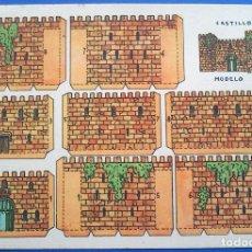 Coleccionismo Recortables: RECORTABLE - CASTILLO MODELO - PERFECTO ESTADO. Lote 165785454