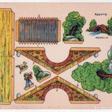 Coleccionismo Recortables: RECORTABLE - PUENTE - PERFECTO ESTADO. Lote 165791162
