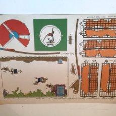 Coleccionismo Recortables: LAMINA RECORTABLES TORAY - CASAS MOLINO DE LA MANCHA. Lote 166843370