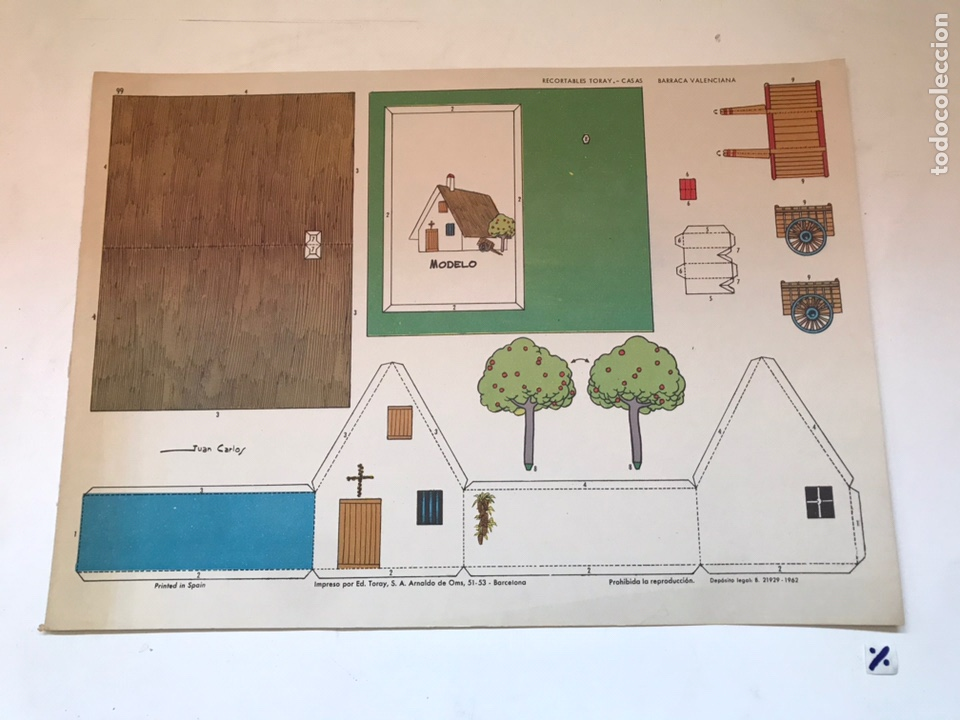 LAMINA RECORTABLE - CASAS BARRACA VALENCIANA (Coleccionismo - Recortables - Construcciones)