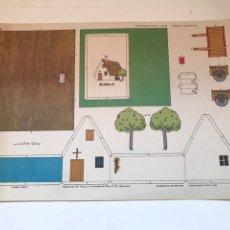 Coleccionismo Recortables: LAMINA RECORTABLE - CASAS BARRACA VALENCIANA. Lote 166843500