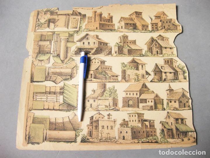 HOJA RECORTABLE DE CASAS DE PUEBLO (Coleccionismo - Recortables - Construcciones)