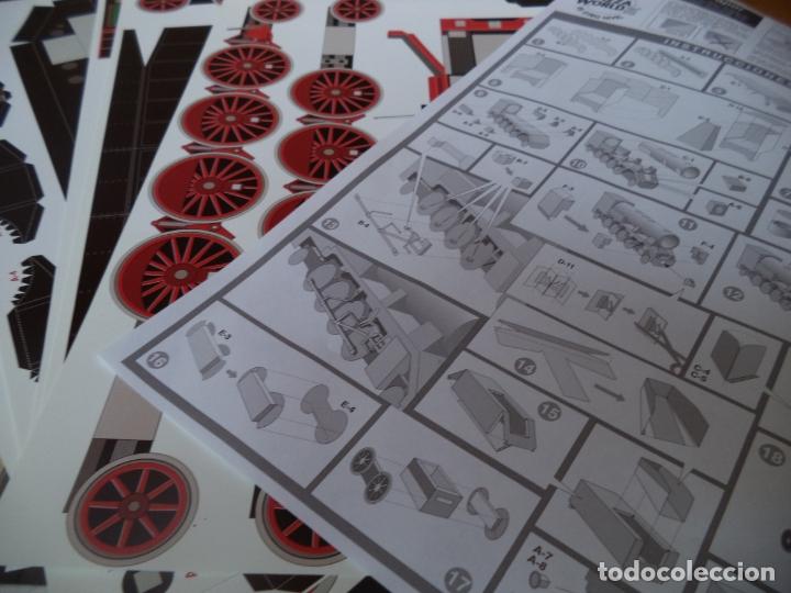 Coleccionismo Recortables: LOCOMOTORA T-39 6 LAMINAS PARA CONSTRUIR UNA MAQUETA ESCALA 1.43 AÑO 1999 - Foto 2 - 168196240