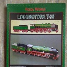 Coleccionismo Recortables: LOCOMOTORA T-39 6 LAMINAS PARA CONSTRUIR UNA MAQUETA ESCALA 1.43 AÑO 1999. Lote 168196240