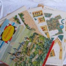 Coleccionismo Recortables: 8 PLIEGOS RECORTABLES ROLLAN, CASTILLO PALACIO REAL DE KOHENZOLLERN. Lote 168622212