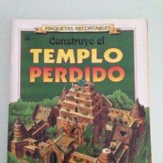 Colecionismo Recortáveis: RECORTABLE, TEMPLO PERDIDO, SUSAETA EDICIONES 13, ESCALA 1-120. Lote 170047976