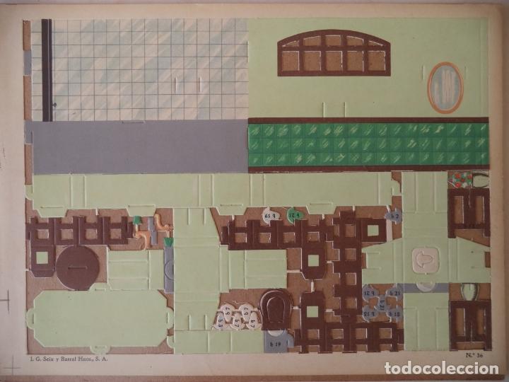 Coleccionismo Recortables: CONSTRUCTOR 4 HOJAS Nº 35 Y 36COCINA Y CUARTO DE BAÑO SEIX BARRAL 33X24 CM - Foto 2 - 170178908