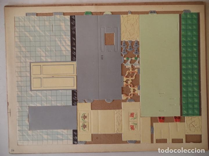 CONSTRUCTOR 4 HOJAS Nº 35 Y 36COCINA Y CUARTO DE BAÑO SEIX BARRAL 33X24 CM (Coleccionismo - Recortables - Construcciones)