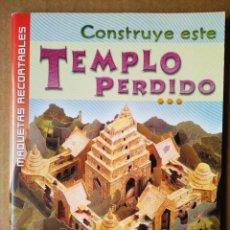 Coleccionismo Recortables: CONSTRUYE ESTE TEMPLO PERDIDO / MAQUETAS RECORTABLES (SUSAETA/USBORNE).. Lote 170246096