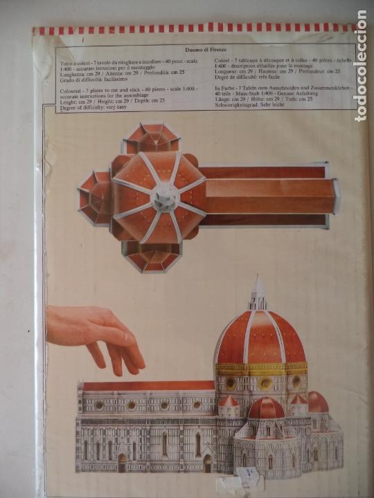Coleccionismo Recortables: RECORTABLE DUOMO DI FIRENCE SIN ABRIR PERMITE HACER MAQUETA 29X29X25 ESCALA 1:400 - Foto 2 - 170511136