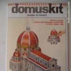 Coleccionismo Recortables: RECORTABLE DUOMO DI FIRENCE SIN ABRIR PERMITE HACER MAQUETA 29X29X25 ESCALA 1:400. Lote 170511136