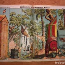 Coleccionismo Recortables: DECORACIONES DE TEATRO BASTIDORES DE CAMPAMENTO MILITAR N 504 ESTAMPERÍA ECONÓMICA PALUZIE. Lote 214650033