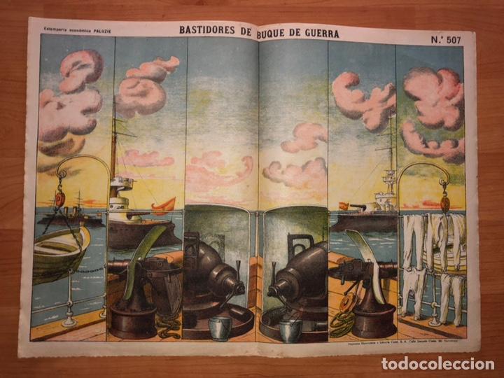 DECORACIONES DE TEATRO BASTIDORES DE BUQUE DE GUERRA N 507 PALUZIE (Coleccionismo - Recortables - Construcciones)