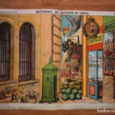 Coleccionismo Recortables: DECORACIONES DE TEATRO BASTIDORES DE EXTERIOR DE CARCEL N 510 PALUZIE. Lote 214649387