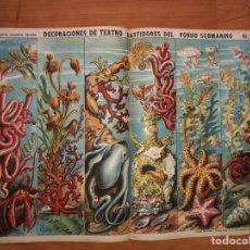 Coleccionismo Recortables: DECORACIONES DE TEATRO BASTIDORES DEL FONDO SUBMARINO N 514 PALUZIE. Lote 195114053