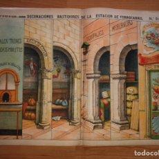 Coleccionismo Recortables: DECORACIONES BASTIDORES DE LA ESTACIÓN DE FERROCARRIL N 517 PALUZIE. Lote 194359733