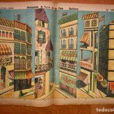 Coleccionismo Recortables: DECORACIONES DE TEATRO DE UNA PLAZA BASTIDORES N 1045 LIT DE HIJOS DE PALUZIE. Lote 194359676
