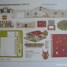 Coleccionismo Recortables: RECORTABLE EDIVAS - CASERIO VASCO - AÑO 1989. Lote 295830528