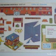 Collezionismo Figurine da Ritagliare: RECORTABLE EDIVAS - CASA DE VERANO - AÑO 1989. Lote 171610879