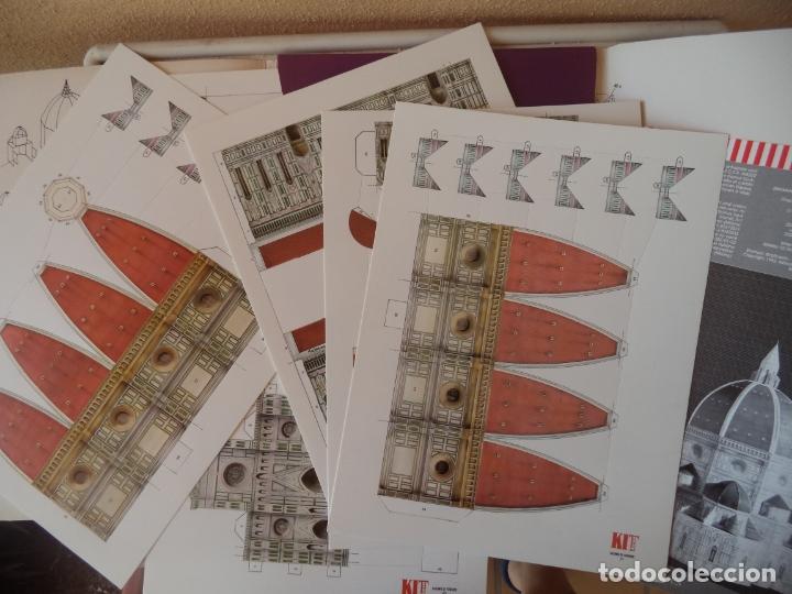 Coleccionismo Recortables: DUOMO DI S.MARIA DEL FIORE FIRENZE7 LAMINAS TROQUELADAS MAQUETA DE ARQUITECTURA 29X37X25 CM - Foto 2 - 172171954