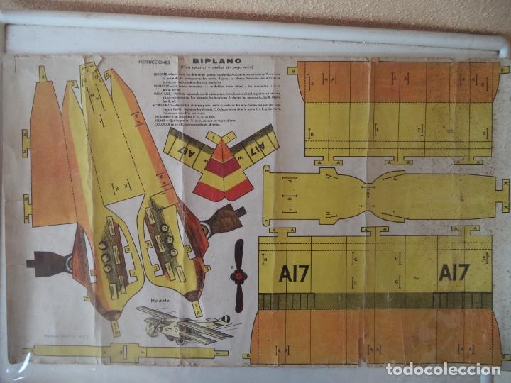 Coleccionismo Recortables: RECORTABLE:BIPLANO Modelo 1937 nº1 DIMENSIONES 53X31 CM BANDERA REPUBLICANA epoca guerra civil - Foto 2 - 172302097