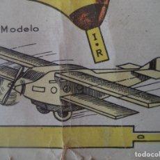 Coleccionismo Recortables: RECORTABLE:BIPLANO MODELO 1937 Nº1 DIMENSIONES 53X31 CM BANDERA REPUBLICANA EPOCA GUERRA CIVIL. Lote 172302097